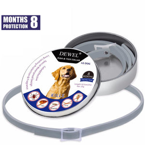 Dewel Flea & Tick Collar for Large Dogs and Puppies - 8 Months