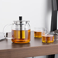 Load image into Gallery viewer, Modern Glass Teapot with 4 Tea Cups and Infuser