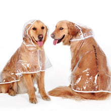 Load image into Gallery viewer, Clear Dog Raincoat for Medium and Large Dogs