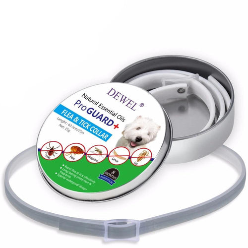 Dewel Flea & Tick Collar with Natural Essential Oils for Large Dogs and Puppies - 8 Months