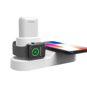 4 in 1 Apple Wireless Charging Station for iPhone, Apple Watch, Airpods, and iPad