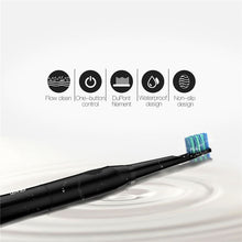 Load image into Gallery viewer, Black Sonic Electric Toothbrush With 2  Extra Brush Heads