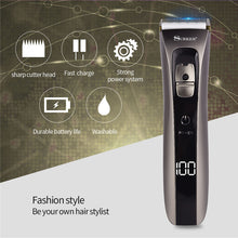 Load image into Gallery viewer, Rechargeable Hair Trimmer & Clipper with Ceramic & Titanium Blades