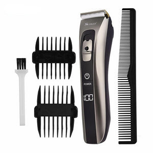 Rechargeable Hair Trimmer & Clipper with Ceramic & Titanium Blades