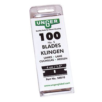 "Unger Carbon steel blades for glass scraper 1.5""/4cm"