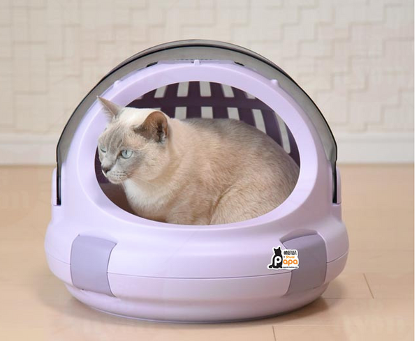 Breathable Travel Space Capsule Cushioned Hard Waterproof Transparent Portable Hard Pet Traveler Carrier with Handle For Small Medium Large Cats (Airline Approved) - Pawsmeme