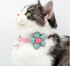 Cute Flower Handmade Adjustable Cotton Safety Designer Pet Collar with Bell For Small Medium Cats - Pawsmeme.com
