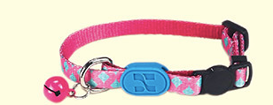 Geometric Cotton Adjustable Safety Designer Pet Collar with Bell For Small Medium Cats - Pawsmeme.com