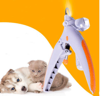 Illuminated Pet Stainless Steel Cordless Nail Clipper With LED Light Safe Trimming For Small Medium Large Cats & Dogs - Pawsmeme.com