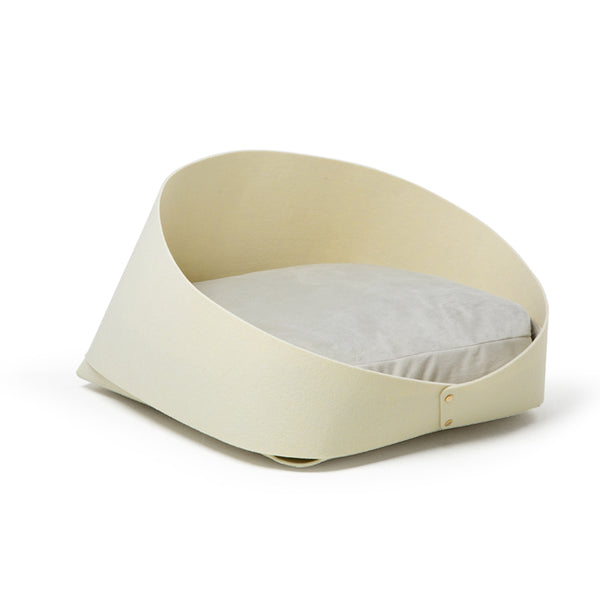 Modern Felt Soft Cushion Deep Sleep Indoor Pet Bed For Small Medium Cats & Dogs - Pawsmeme