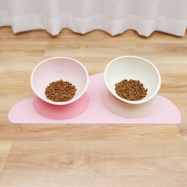 Baby Pink Non-Slip Raised Elevated Designer Pet Feeding Bowl For Small Medium Dogs - Pawsmeme