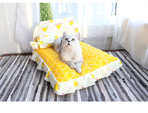 Candy Color Extra Soft Cushion Deep Sleep Pet Bed For Small Medium Cats - Pawsmeme.com