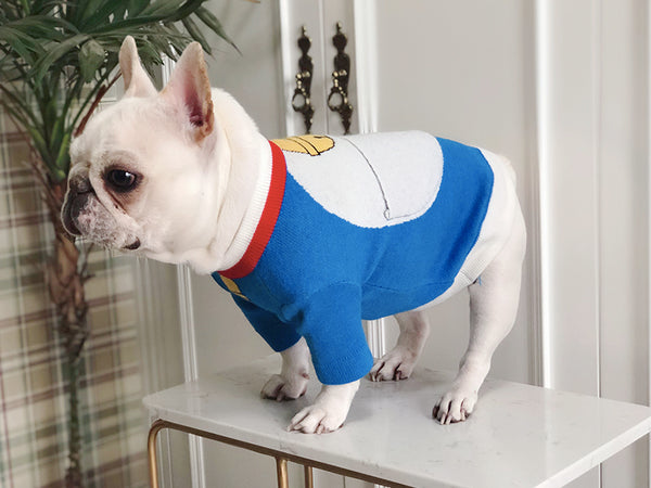 Doraemon Pocket Knit Sweater Costume For Small Medium Dogs - Pawsmeme.com