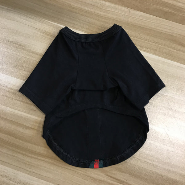Gucci Style Bee Black T-shirt Lightweight Costume For Small Medium Cats - Pawsmeme