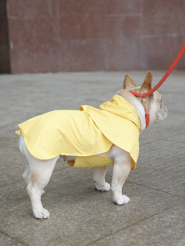 Yellow Poncho Velcro Raincoat Easy Wear For Small Medium Dogs - Pawsmeme