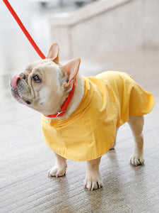 Yellow Poncho Velcro Raincoat Easy Wear For Small Medium Dogs - Pawsmeme.com