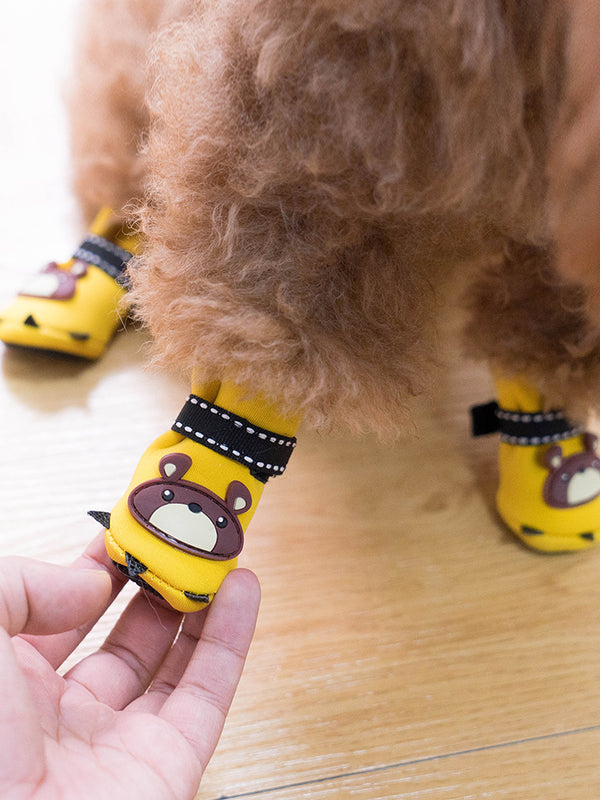 Teddy Bear Adjustable Breathable Paw Protector Hiking Shoes Outdoor Boots for All Seasons with Rugged Anti-Slip Sole for Small Medium Dogs - Pawsmeme.com