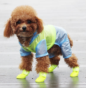 Cute Candy Color Hoodie Raincoat Leg Protection For Small Medium Dogs - Pawsmeme.com