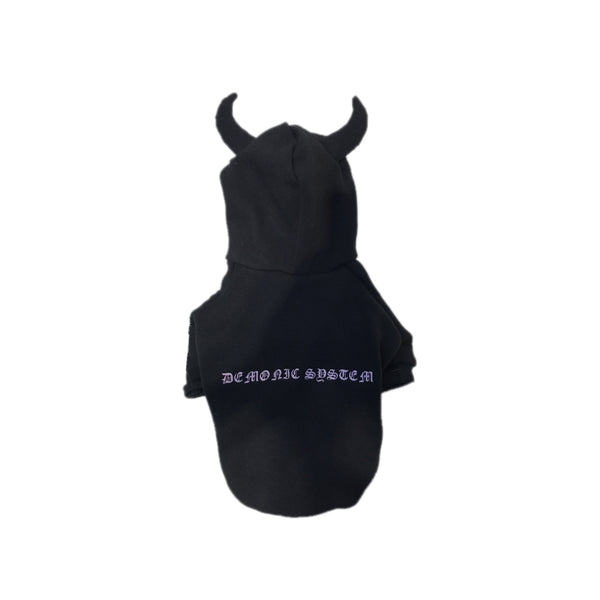 Chrome Hearts Style Black Devil Woolen Sweatshirt Costume For Small Medium Dogs - Pawsmeme