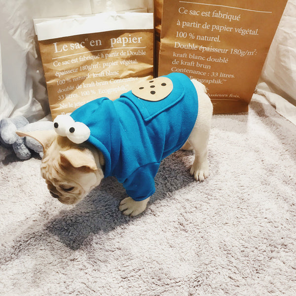 Monster Biscuit Cookie Pocket Fall Winter Sweater Designer Costume For Small Medium Dogs - Pawsmeme