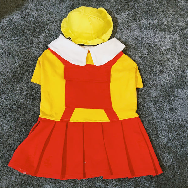 Broke Girls Style Waitress Diner Cotton Dress With Hat Costume For Small Medium Dogs - Pawsmeme