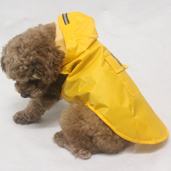 MORE COLORS Bright Hoodie Raincoat Easy Wear Reflective Stripe For Small Medium Large Dogs - Pawsmeme