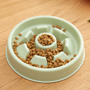 Candy Color Interactive Slow Eating Anti-Gulping Designer Pet Feeding Bowl For Small Medium Dogs & Cats - Pawsmeme.com