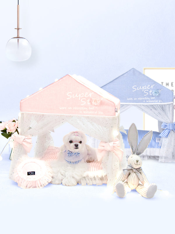 Princess Lace Dreamy Indoor Cushion Pet House Bed For For Small Medium Cats & Dogs - Pawsmeme.com