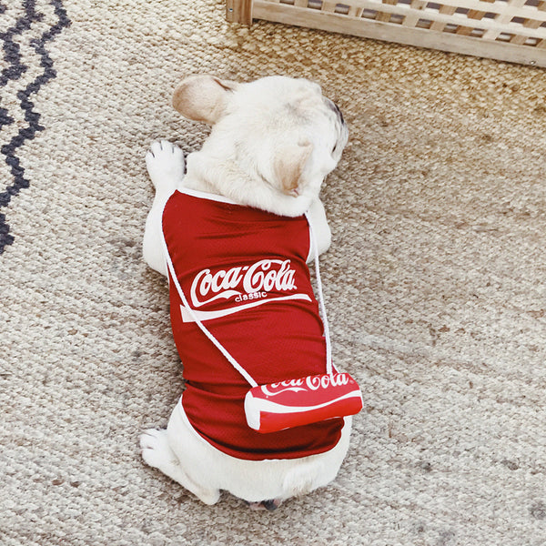 Coca-Cola Coke Summer Cotton Shirt Dress Designer Costume For Small Medium Dogs - Pawsmeme.com