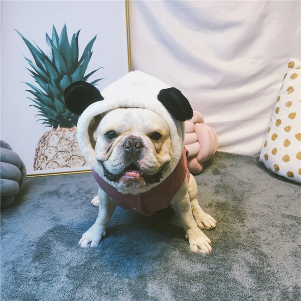 Panda Head Winter Warm Thick Cotton Vest Costume For Small Medium Dogs - Pawsmeme.com