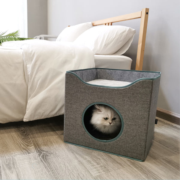 Modern Fold-able Multi-Use Box Summer Pet Bed For Small Medium Cats - Pawsmeme.com