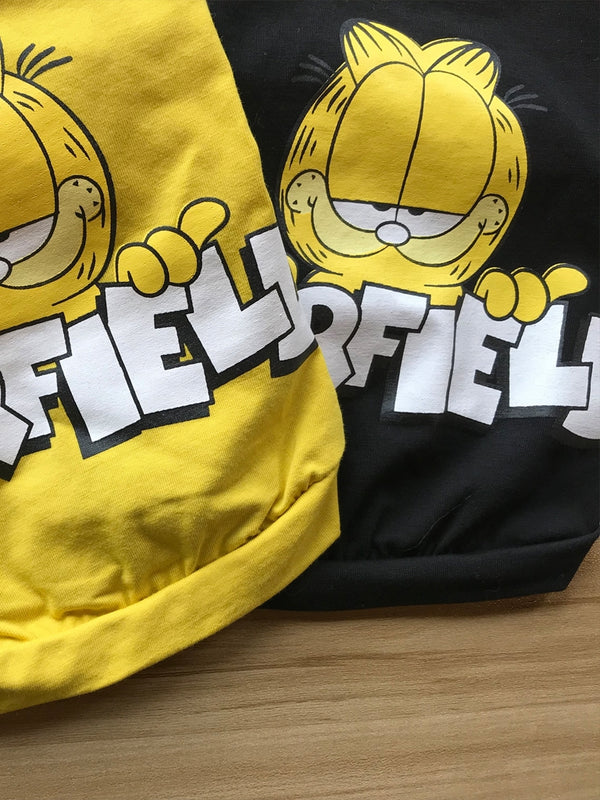 Garfield Style Yellow Summer T-shirt Costume For Small Medium Cats - Pawsmeme.com