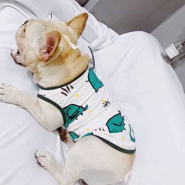 Green Elephant Summer Shirt Designer Costume For Small Medium Dogs - Pawsmeme.com