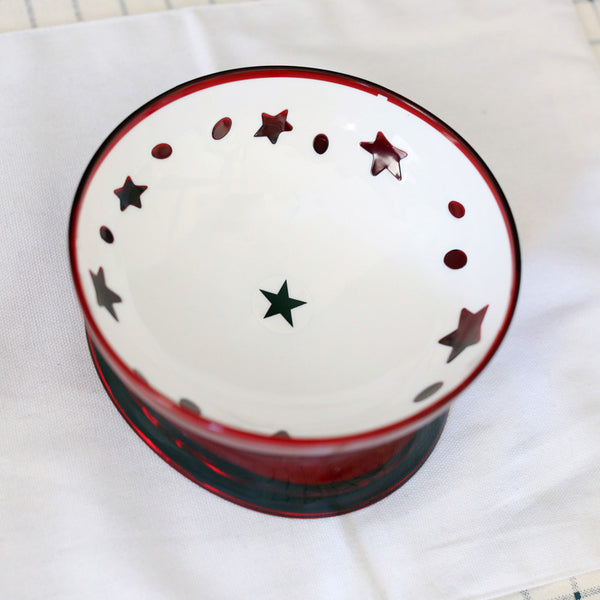 Star Durable Raised Elevated Easy Clean Designer Pet Feeding Bowl For Small Medium Cats - Pawsmeme.com