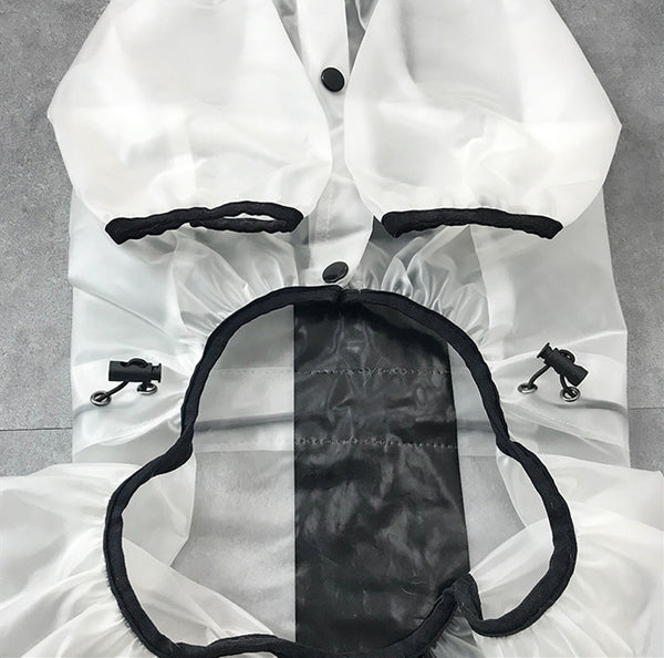 Cute Clear Belly + Legs Elastic Protection Raincoats For Small Medium Dogs - Pawsmeme.com
