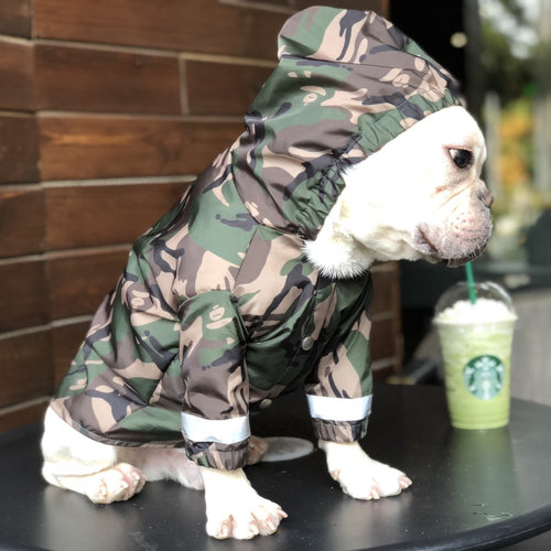 Camouflage Print Hoodie Raincoat Leg Protection For Small Medium Large Dogs - Pawsmeme.com