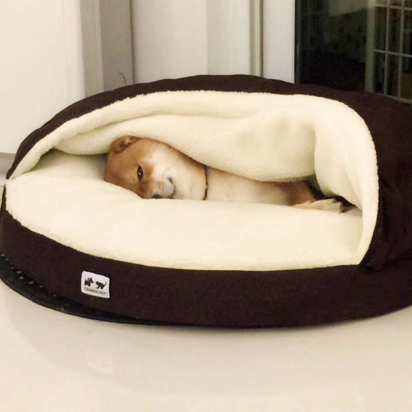 Pocket Tuck In Warm Deep Sleep Cushion Indoor Pet Bed For Small Medium Large Dogs - Pawsmeme