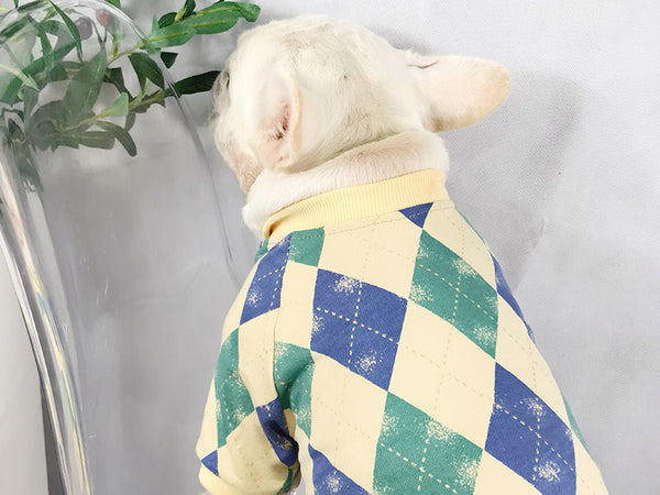 Geometric Street Fall Winter Warm Sweater Hoodie Costume For Small Medium Dogs - Pawsmeme.com