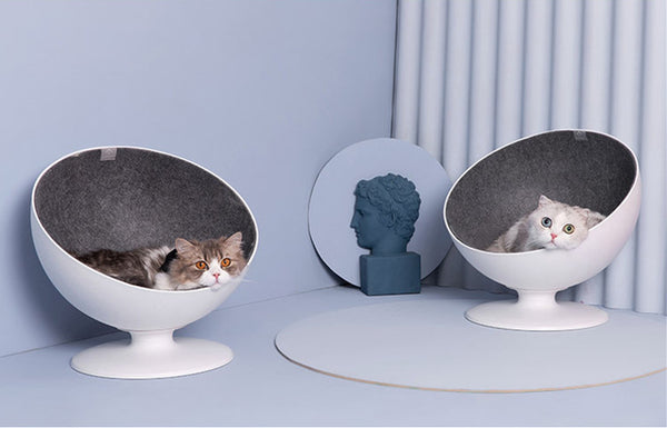 Spinning Sphere Luxury Summer Indoor Pet Sofa Bed For Small Medium Cats - Pawsmeme.com