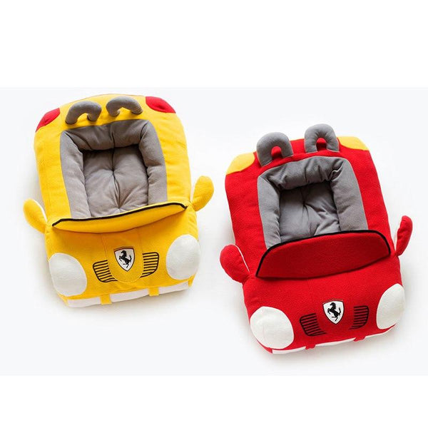 Ferrari Benz Sports Car Pet Bed House Waterproof Organic Cotton Warm Sofa Kennel For Cats Dogs Puppy MORE COLORS - Pawsmeme