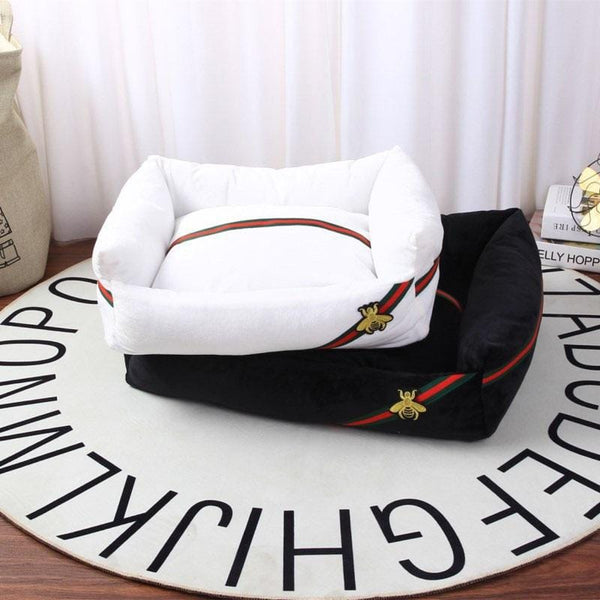 Gucci Style Washable Pet Bed Deep Sleep Luxury Dog Cat Sofa Cushion MORE COLORS & SIZES - Pawsmeme