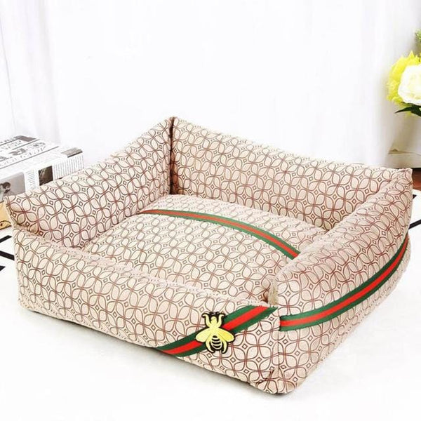 Gucci Style Washable Pet Bed Deep Sleep Luxury Dog Cat Sofa Cushion MORE COLORS & SIZES - Pawsmeme.com