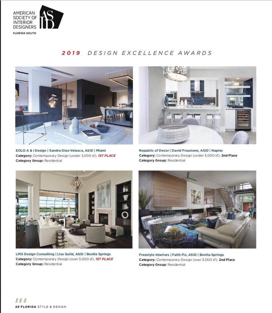 ASID Design Excellence Award Spread