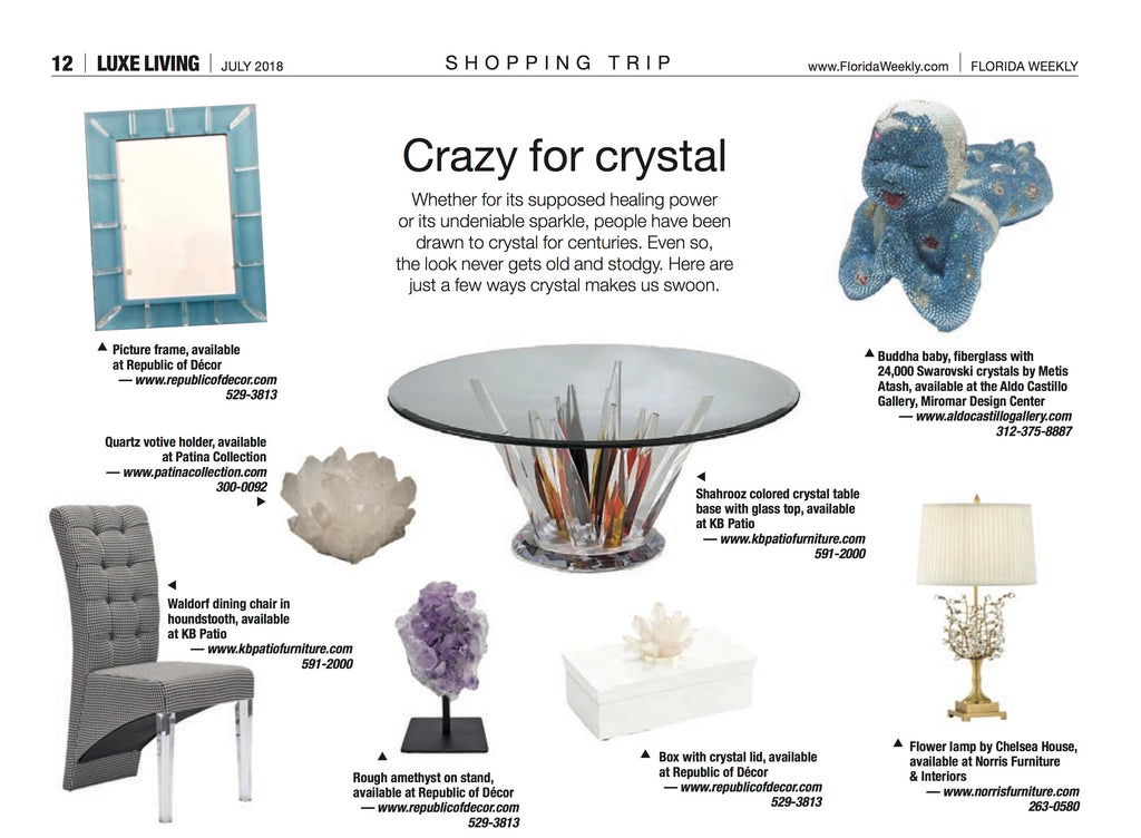 Luxe Living Crystals Feature