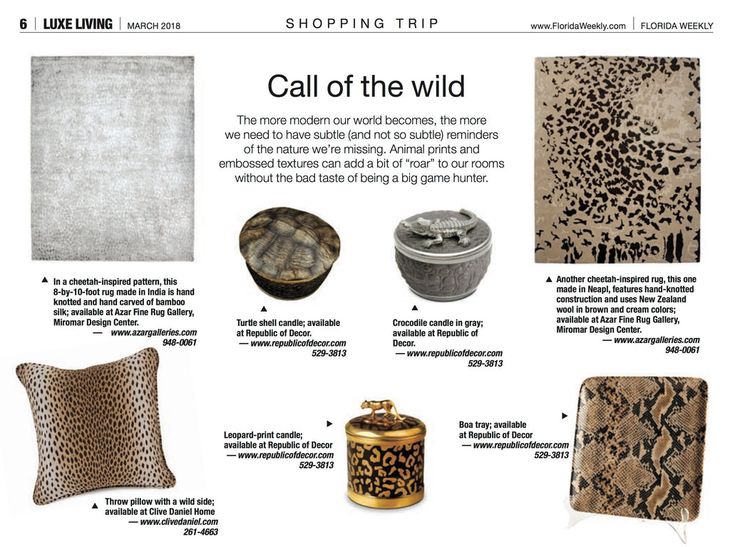 Luxe Living Animal Print Feature