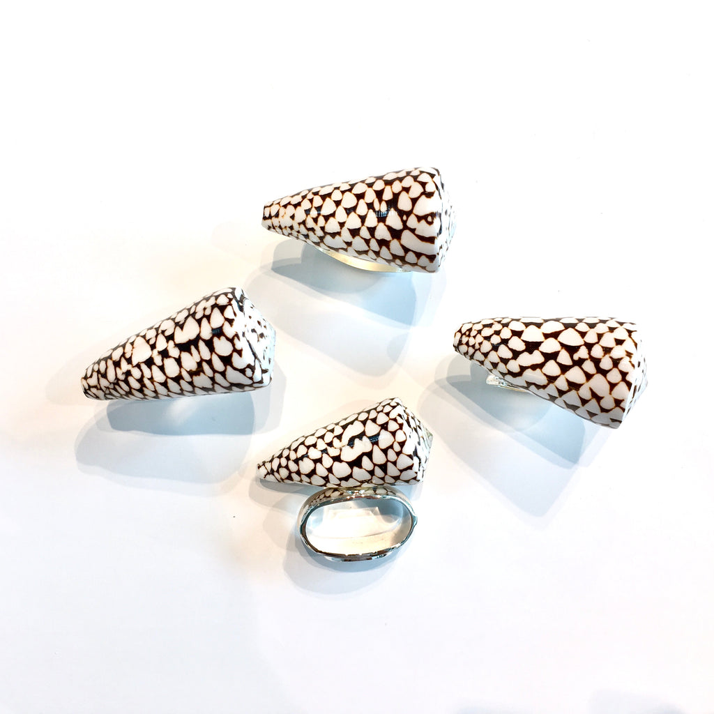 Spotted Shell Napkin Ring s/4