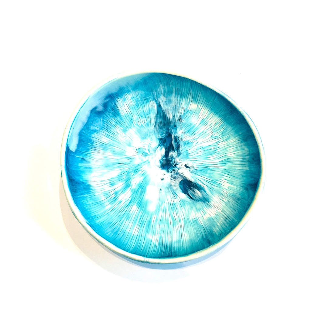 Medium Aqua Resin Bowl