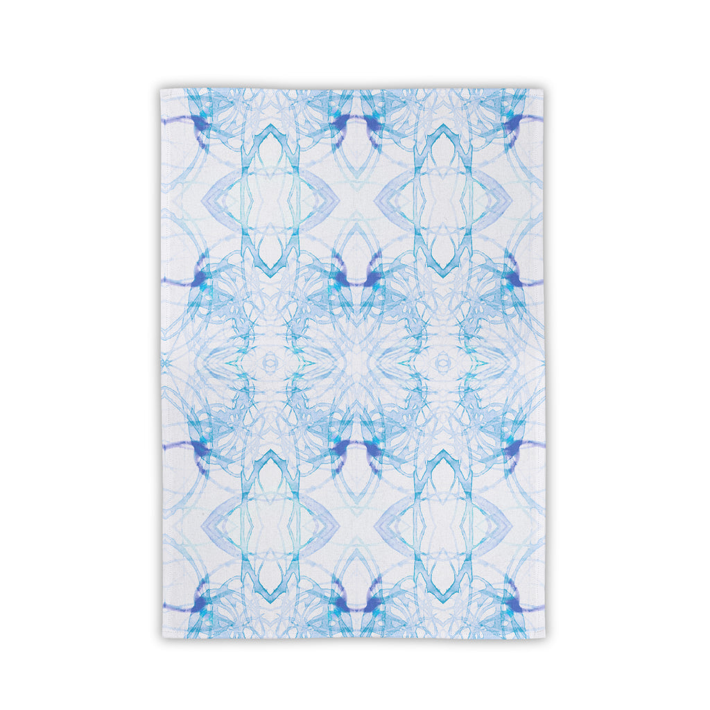 Blue Watercolor Sketch Towel