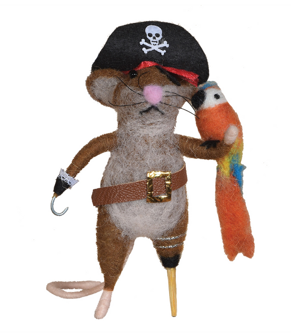 Pirate Mouse Ornament