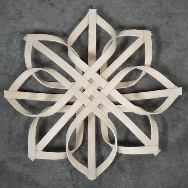Open Work Wooden Snowflake Ornament
